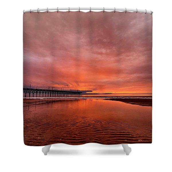 Glowing Sunrise Shower Curtain