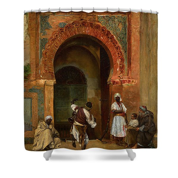 Gnaoua Festival Before The Medina Gate, Tangier Shower Curtain