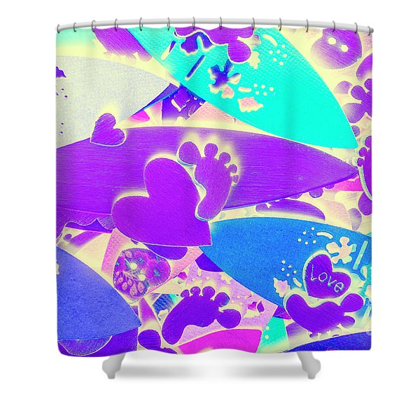 Gnarly Wipeout Shower Curtain