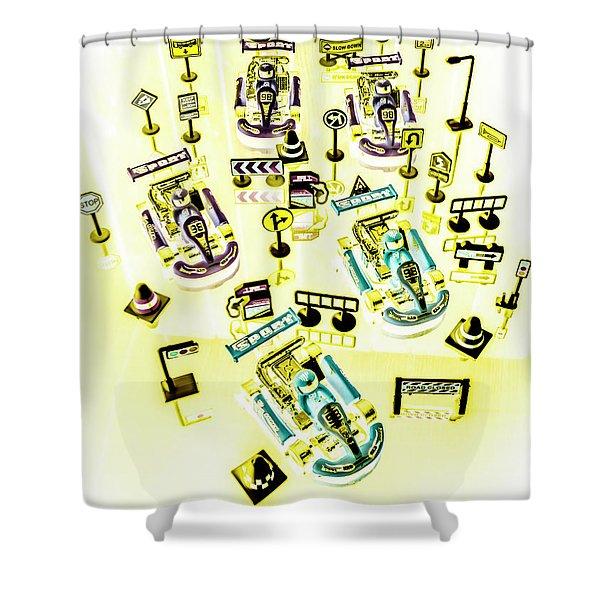 Go-kart Art Shower Curtain