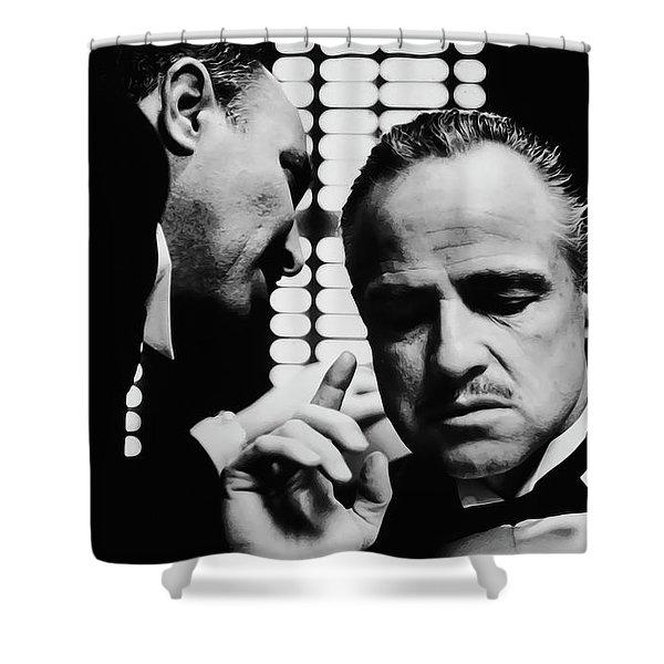 Godfather Brando Shower Curtain