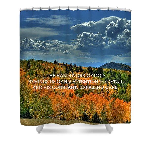 God's Handiwork Shower Curtain
