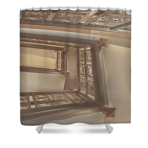Going Up...evens Hall Carleton College Shower Curtain