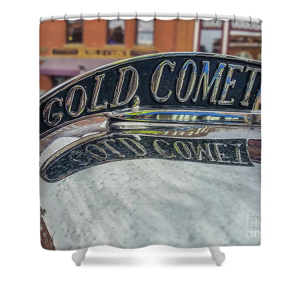 Gold Comet Shower Curtain