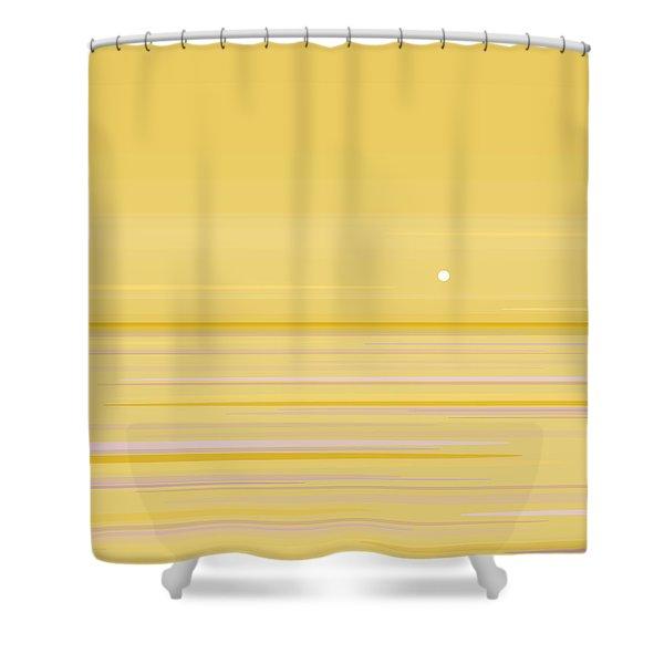 Gold Horizon Shower Curtain