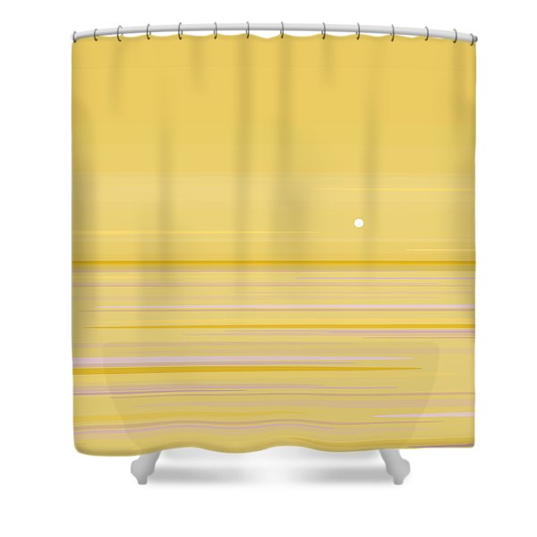 Gold Horizon Shower Curtain