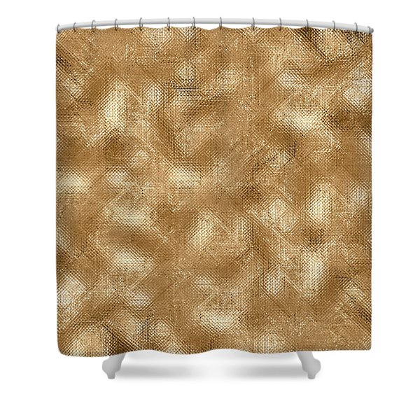 Gold Metal  Shower Curtain