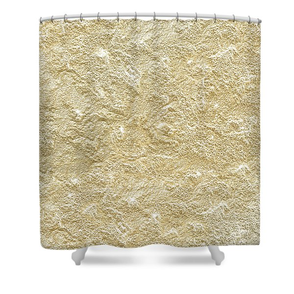 Gold Stone  Shower Curtain
