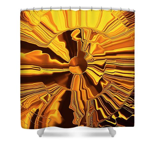 Golden Circle Shower Curtain