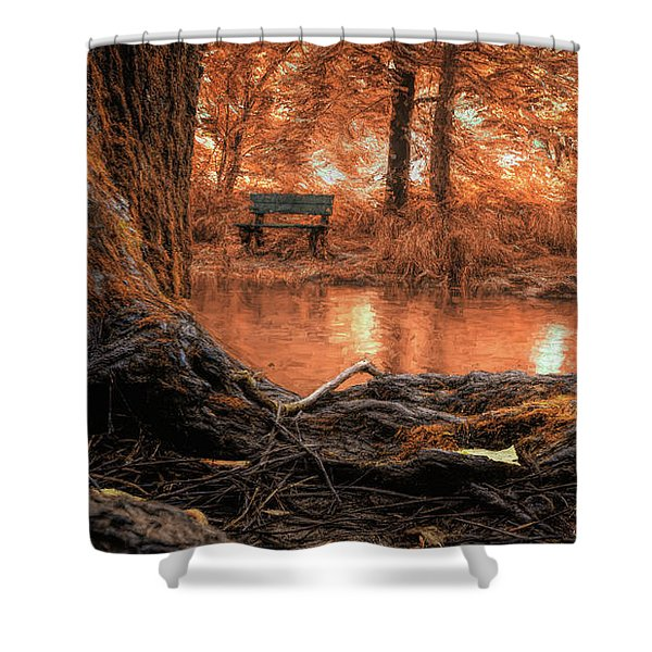 Golden Creek Vision Shower Curtain