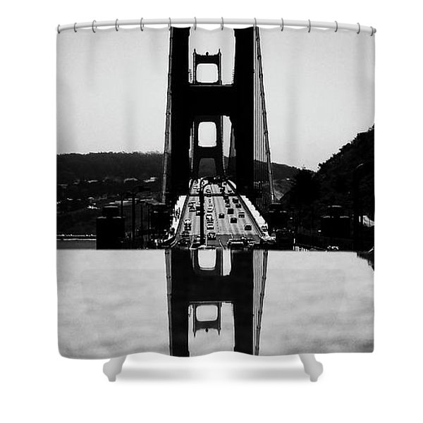 Golden Gate Reflection Shower Curtain