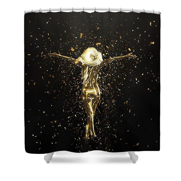 Golden Girl Shower Curtain