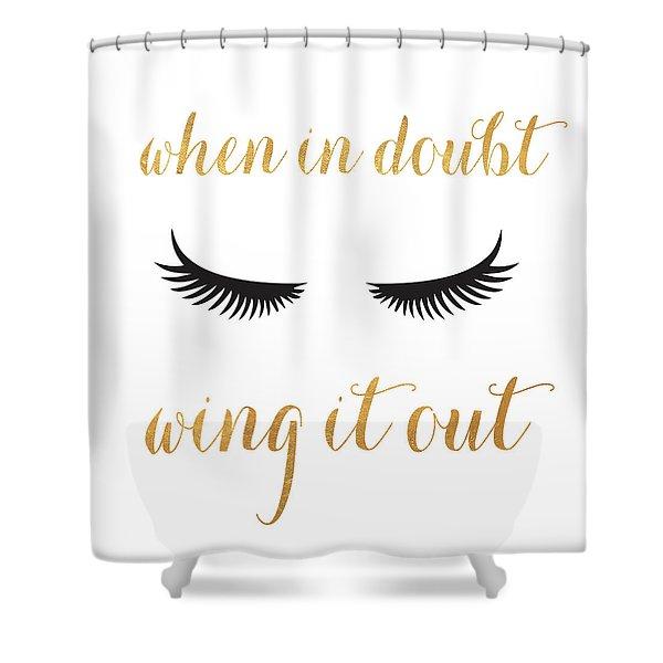 Golden Glam I Shower Curtain
