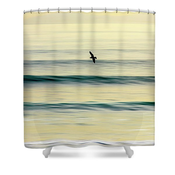 Golden Glide Shower Curtain