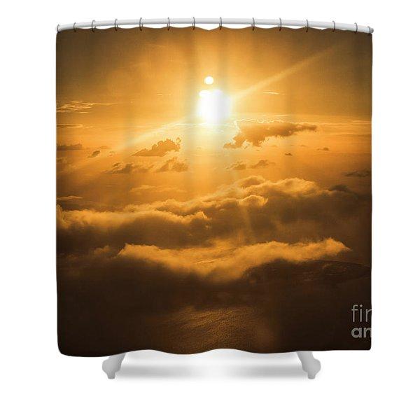Golden Glow Shower Curtain