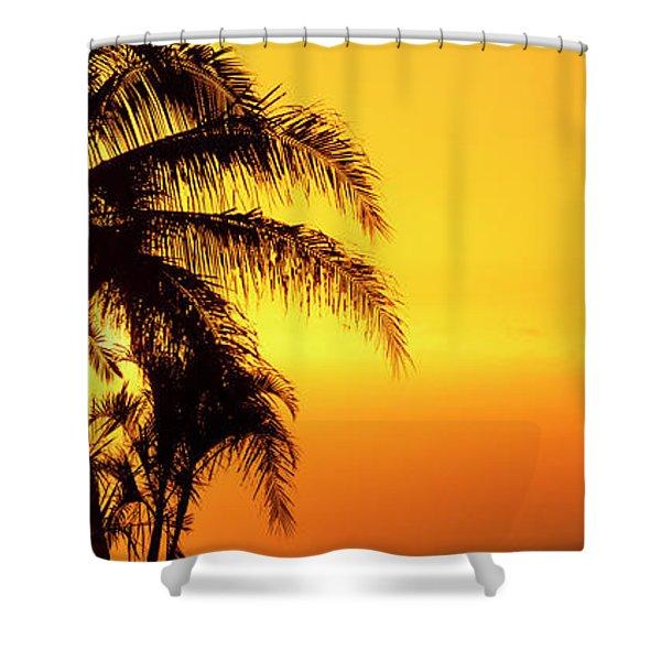 Golden Hawaiian Sunset Shower Curtain