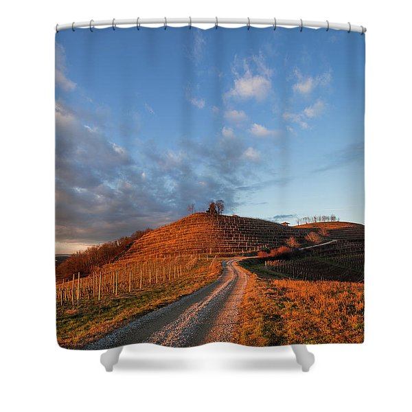 Golden Hill Shower Curtain