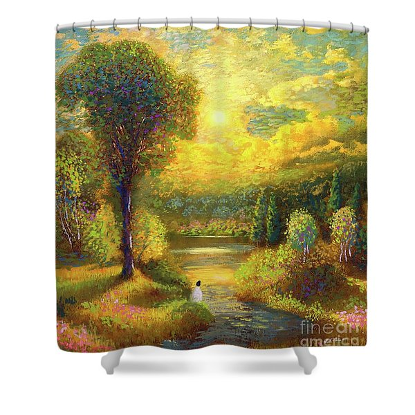 Golden Peace Shower Curtain