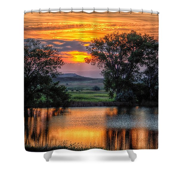 Golden Pond At 36x60 Shower Curtain
