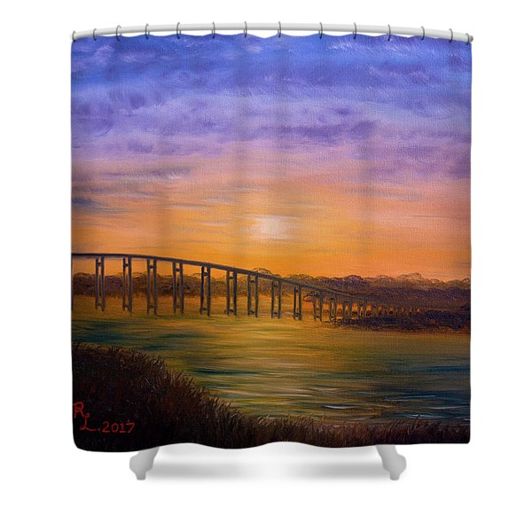 Golden Spirit Shower Curtain