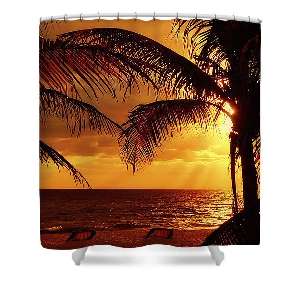 Shower Curtain featuring the photograph Golden Sunrise by Meta Gatschenberger