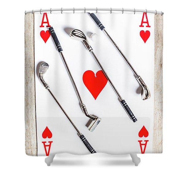 Golf Club Love Shower Curtain