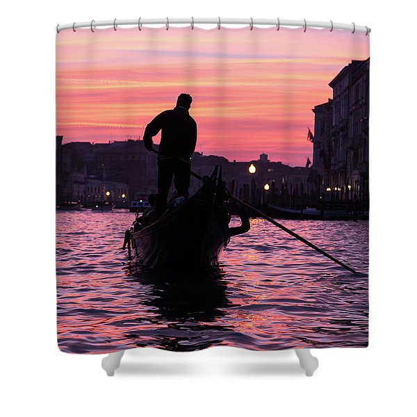 Gondolier At Sunset Shower Curtain