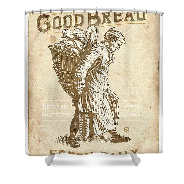 Good Bread Shower Curtain