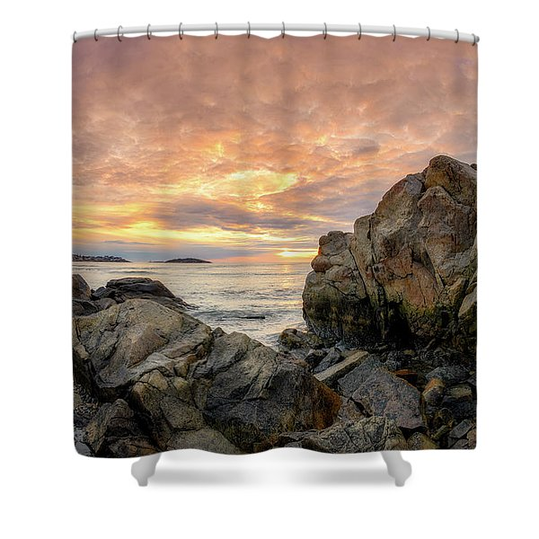 Good Harbor Rock View 1 Shower Curtain
