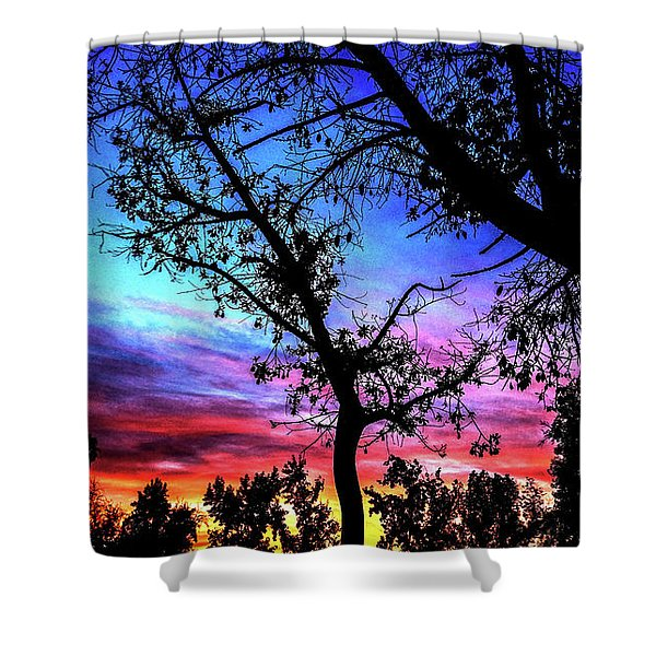 Good Night Leaves In Fall Shower Curtain