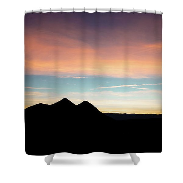 Goodnight Death Valley Shower Curtain