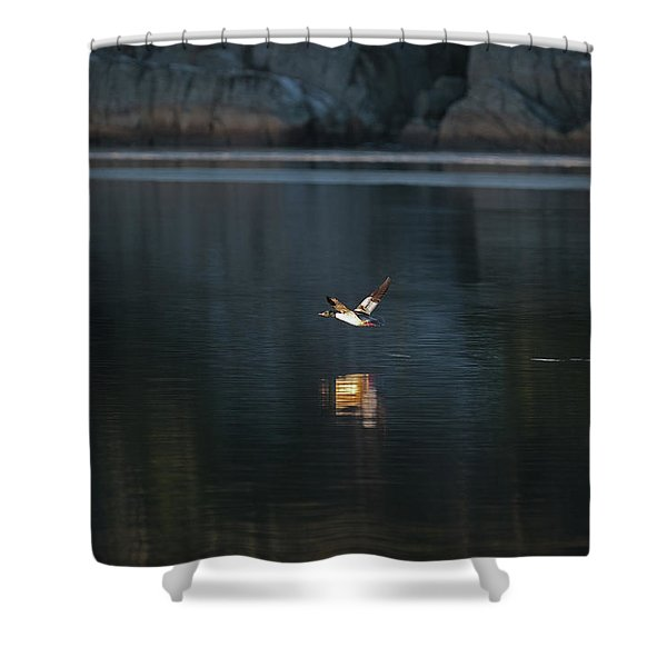 Goosander Shower Curtain