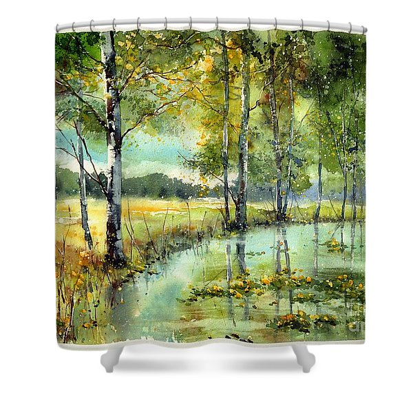 Gorgeous Water Lilies Bloom Shower Curtain