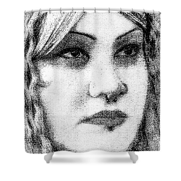 Goth Headshot Shower Curtain