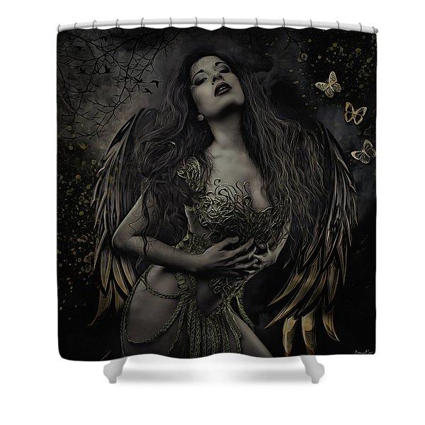Gothic Angel, Aurelia Shower Curtain