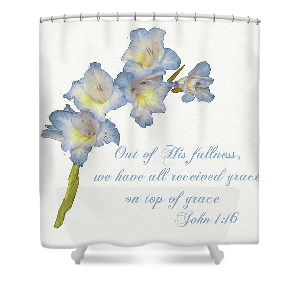 Grace Gladiolus Shower Curtain