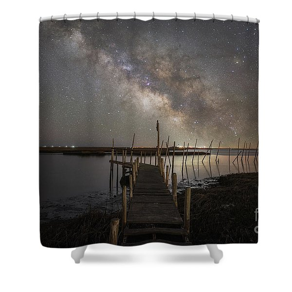 Grand Bay Milky Way  Shower Curtain