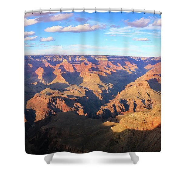 Shower Curtain featuring the photograph Grand Canyon Near Sunset by Dawn Richards