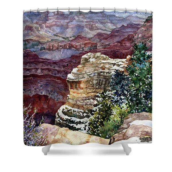 Grand Canyon Winter Day Shower Curtain