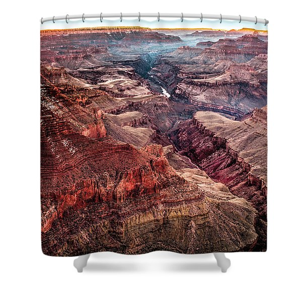 Grand Canyon Winter Sunset Shower Curtain