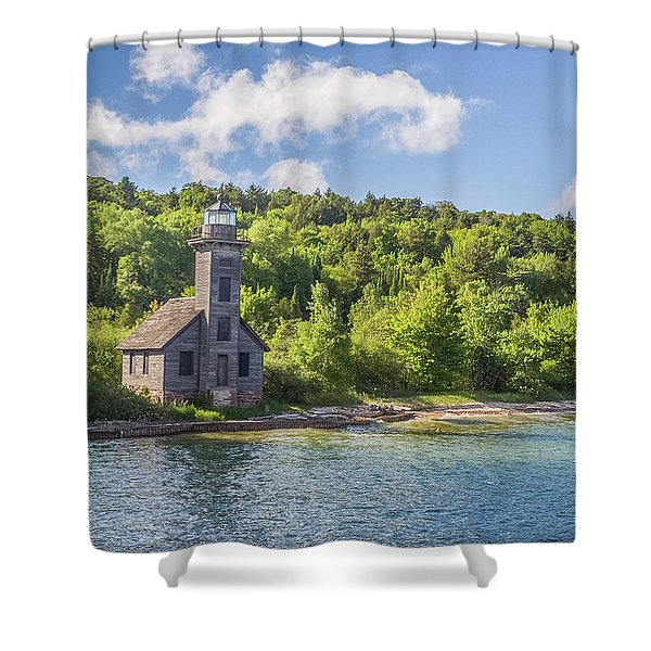 Grand Island East Channel Lighthouse Shower Curtain