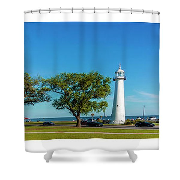 Grand Old Lighthouse Biloxi Ms Collage A1e Shower Curtain