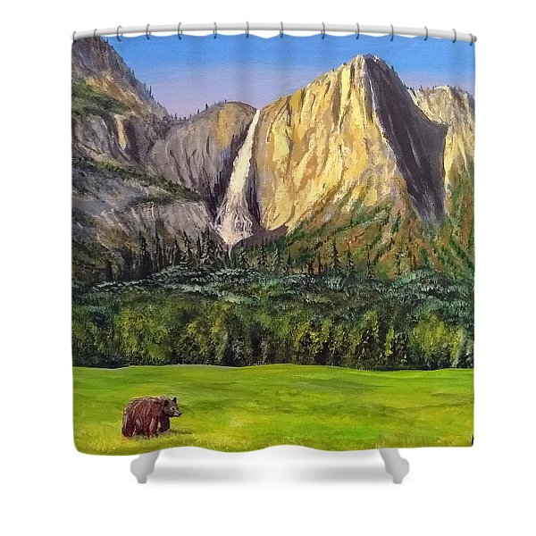Shower Curtain featuring the painting Grandeur And Extinction by Kevin Daly