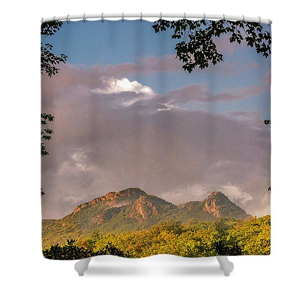 Shower Curtain featuring the photograph Grandfather Mountain Framed by Ken Barrett