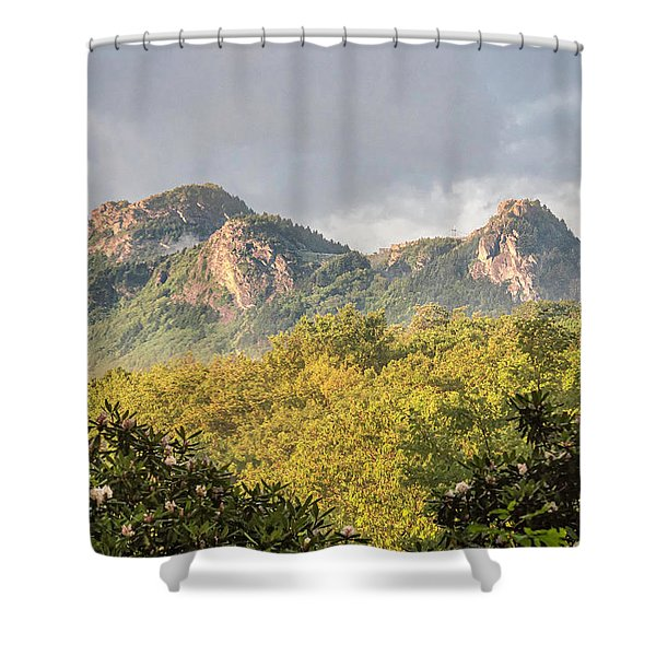 Shower Curtain featuring the photograph Grandfather Mountain by Ken Barrett
