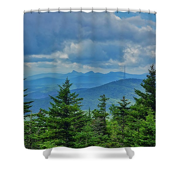 Shower Curtain featuring the photograph Grandmother Mountain by Meta Gatschenberger