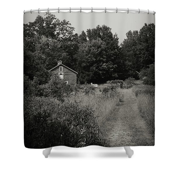 Shower Curtain featuring the photograph Grandpa's Barn by Michelle Wermuth