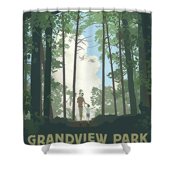 Grandview Park Shower Curtain