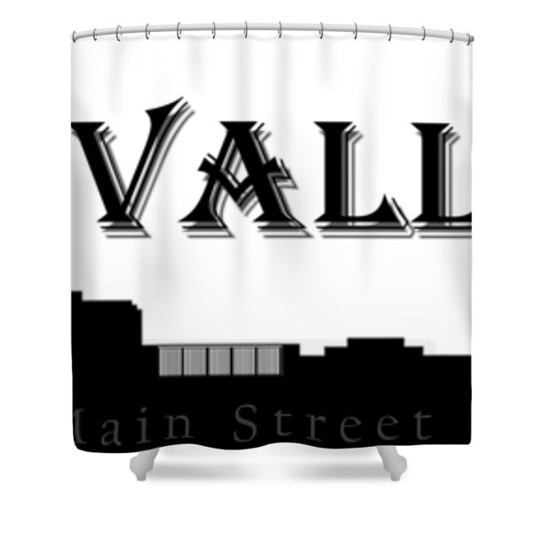 Grass Valley Skyline Shower Curtain