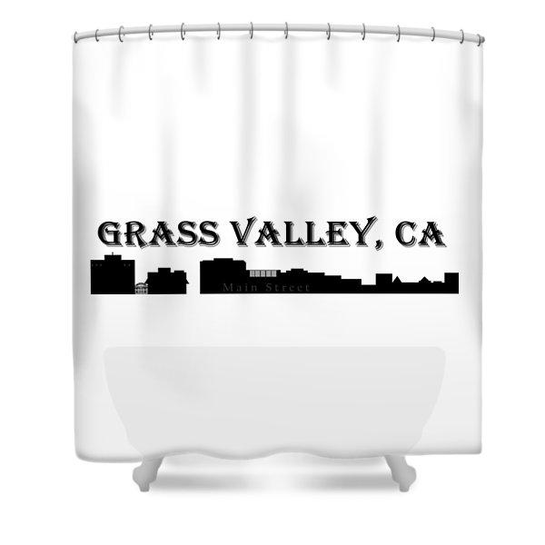 Grass Valley Skyline Shower Curtain
